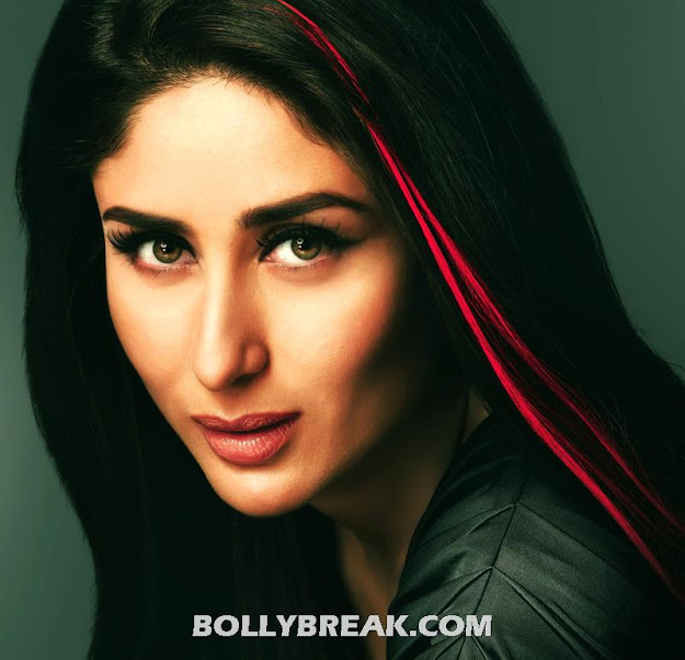 Kareena Kapoor Red Streak Hair Wallpaper for Vaio : Latest 2012