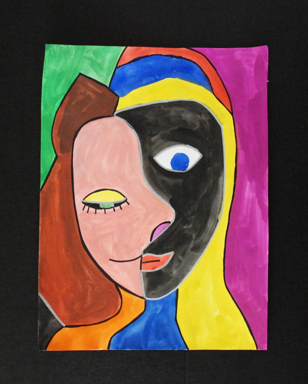 Picasso Self Portraits For Kids In the style of picasso: