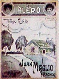 Partitura del tango criollo El Alero
