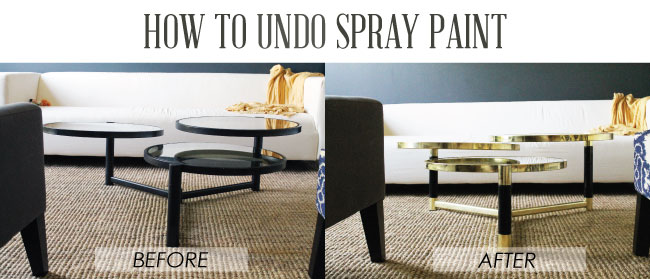 how to undo spray paint - chris loves julia