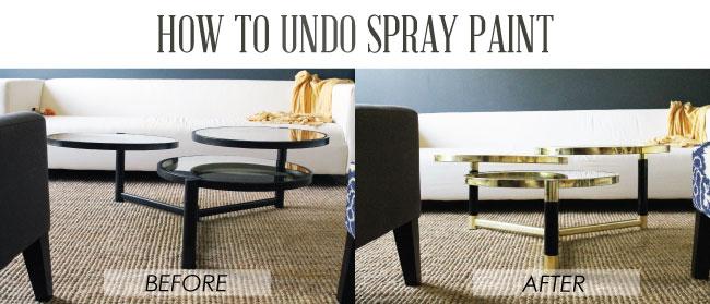 How to Undo Spray Paint - Chris Loves Julia