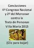 Conclusiones 4º Congreso Nacional y 1º del Mercosur - Trata - Villa María 2013