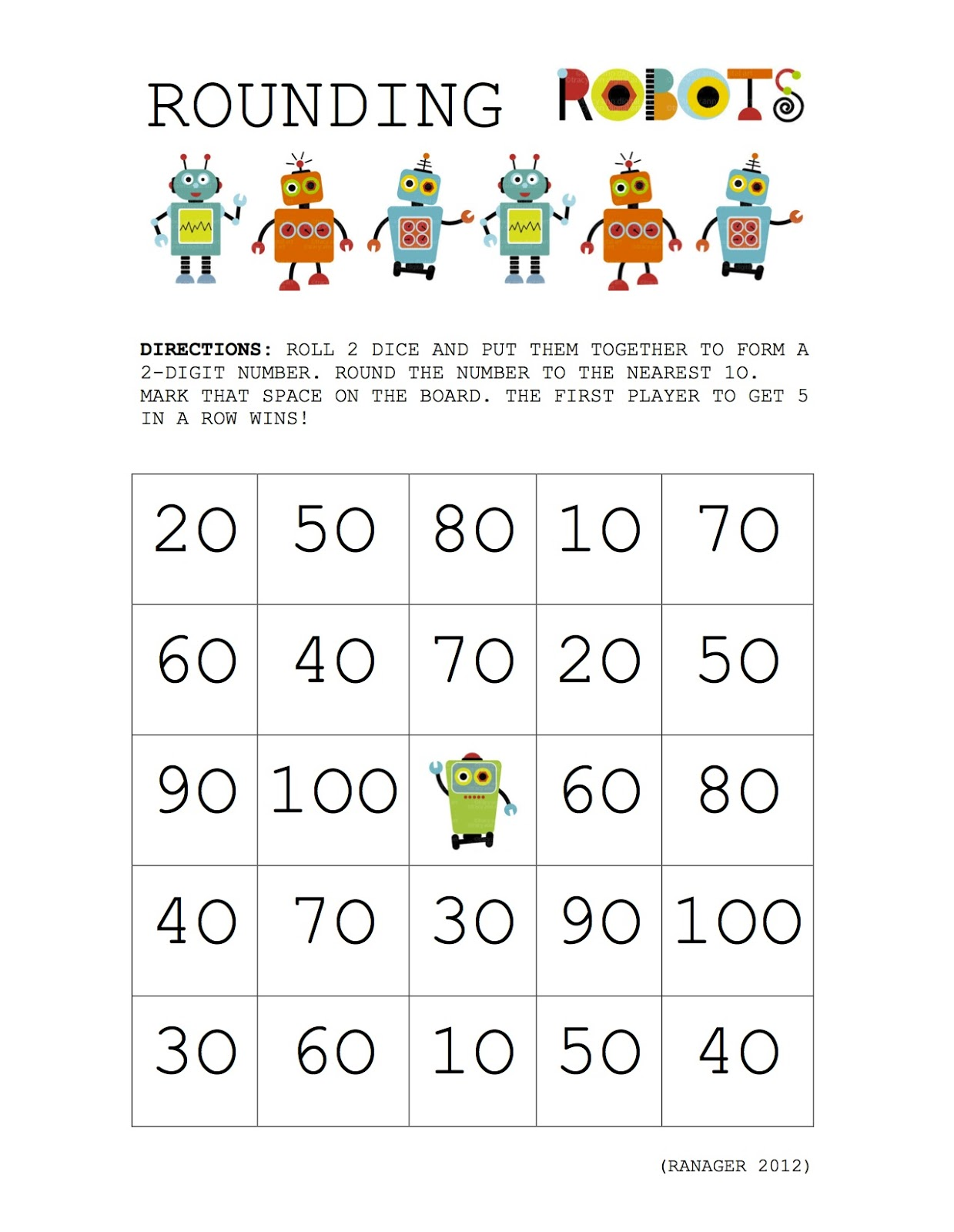 Adaptable image throughout rounding games printable