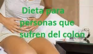 dieta para personas que sufren del colon