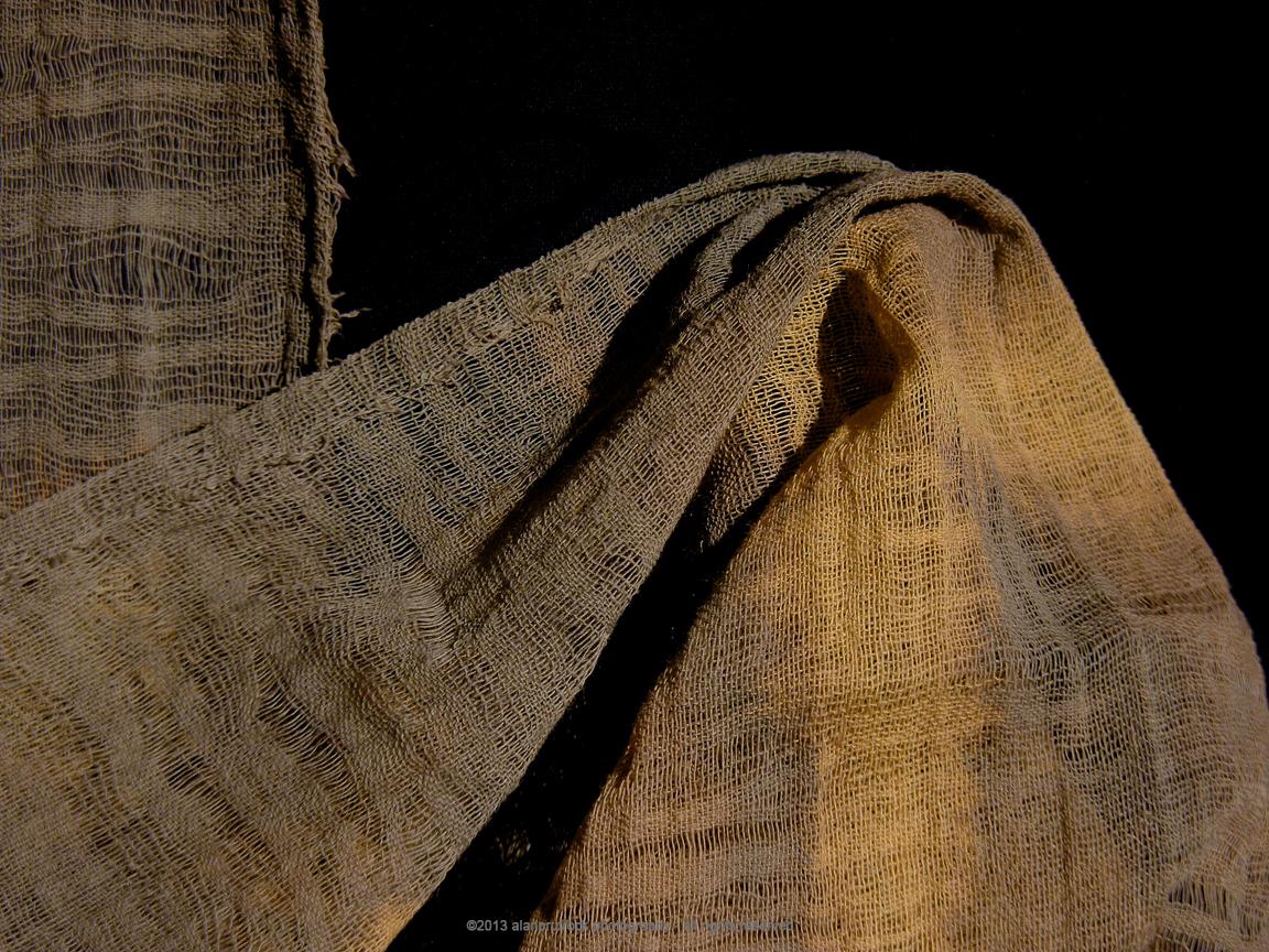 fundoshi fabric photos and more: Khaki Cheesecloth