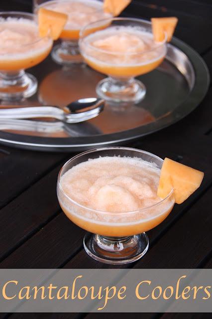 Cantaloupe freeze; cantaloupe slushee