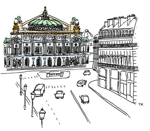 Opera Garnier by Yukié Matsushita