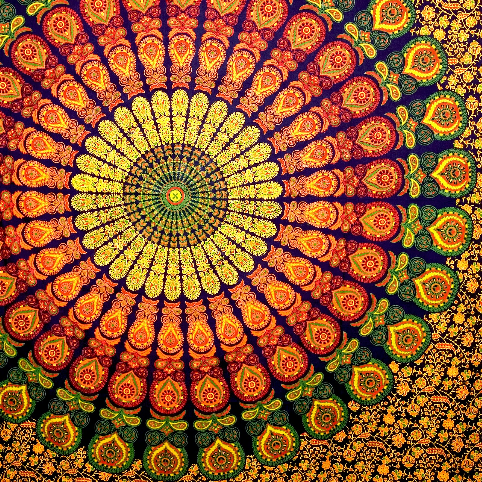 Large Wall Tapestry Mandala Hippie Bedding Indian Tapestries Block Print  Table Cloth Beach Tapestry Ceiling Stylish