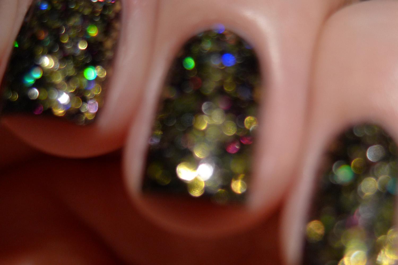 Shimmer Candace golden black holographic glitter