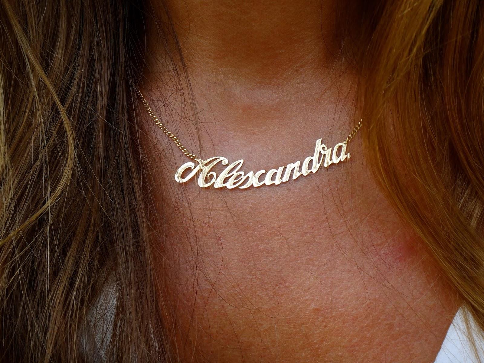 collier prenom alexandra