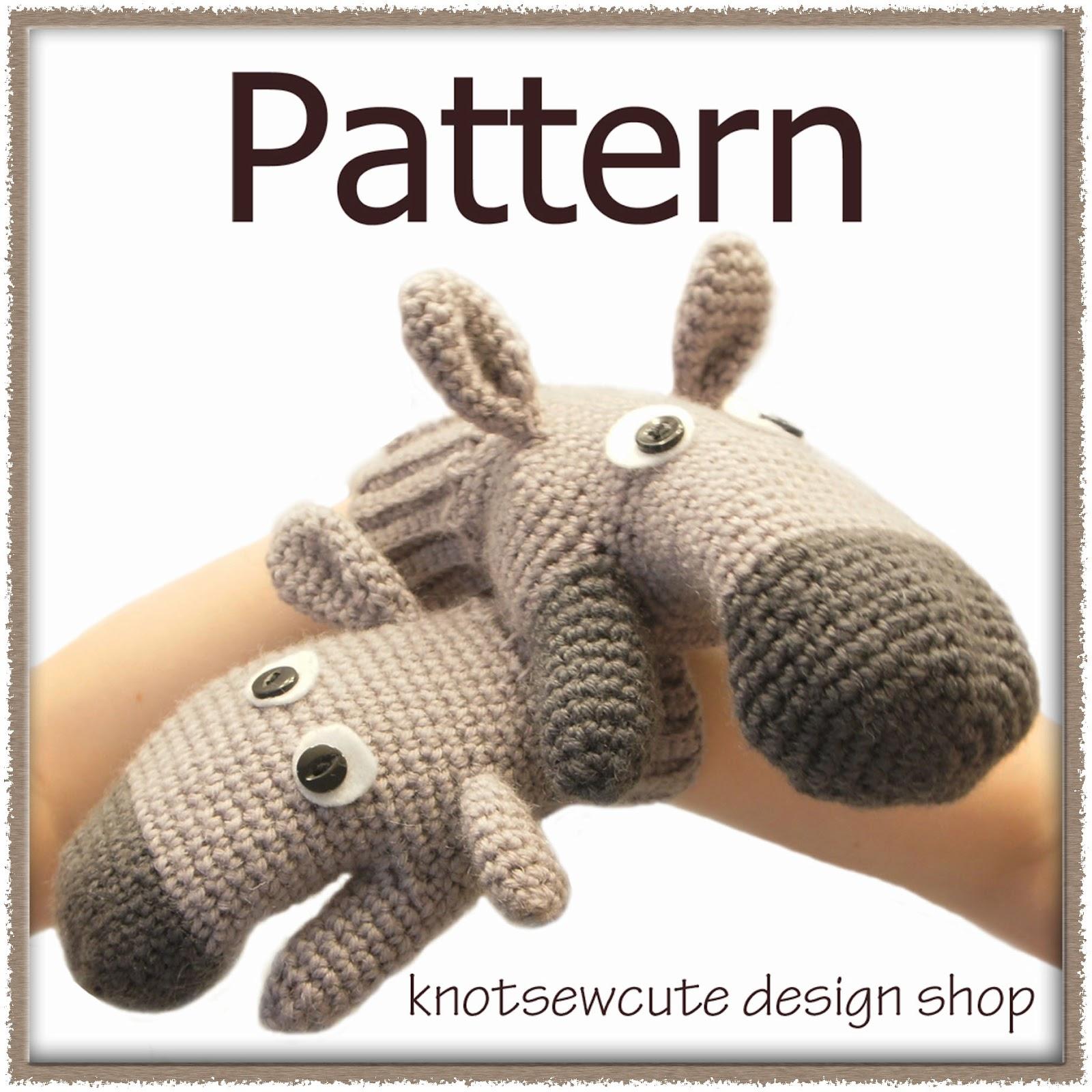 knot sew cute design shop: new crochet pattern - donkey ...