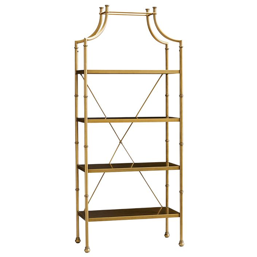 Copy Cat Chic High Fashion Home Chloe Gold Etagere