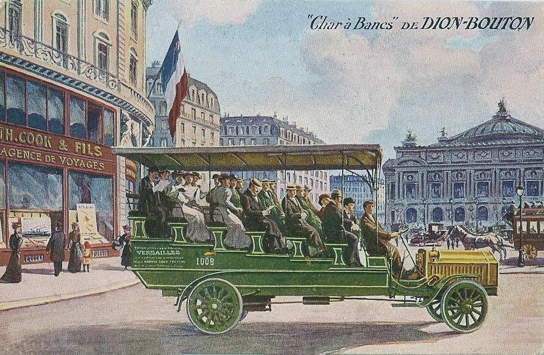 transpress nz de dion bouton omnibus and char bancs circa 1910. Black Bedroom Furniture Sets. Home Design Ideas