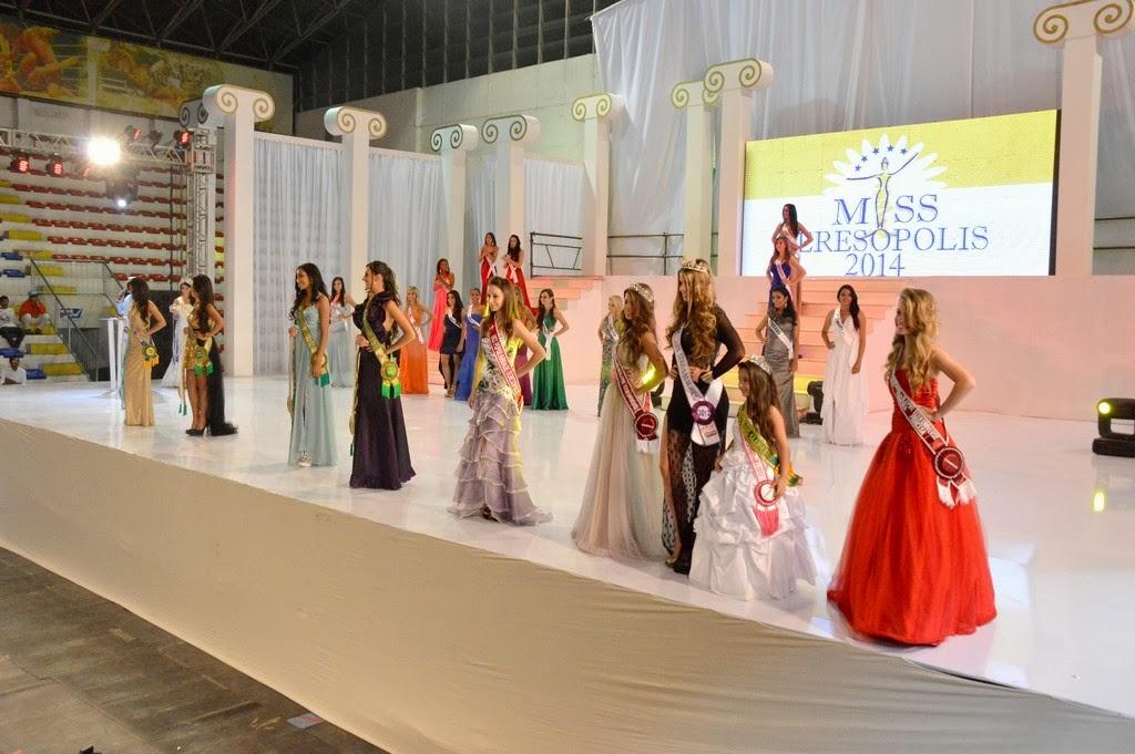 Momento do Concurso Miss Teresópolis Oficial 2014 no Ginásio Pedrão
