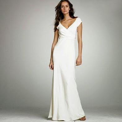 gaun pengantin putih simple