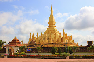 Stupa Pha That Luang in Vientiane