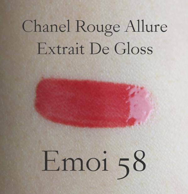 Chanel Rouge Allure Extrait De Gloss Emoi Swatch