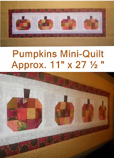 Pumpkins Mini Quilt