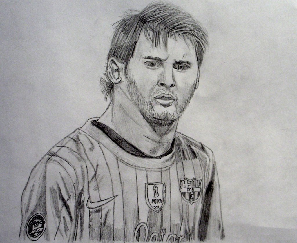 Footballer Drawing