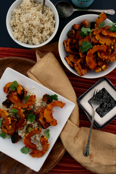 Red Curry Delicata Squash w/ Tofu {12 Weeks of Winter Squash}