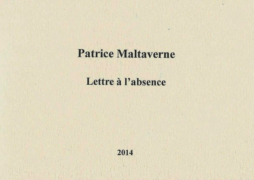 Lettre à l'absence