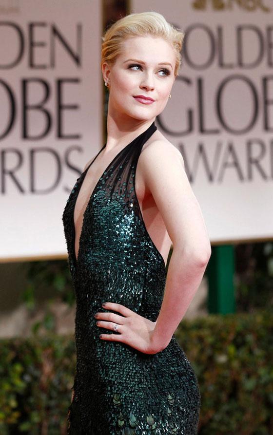 Evan Rachel Wood Globos Oro 2012