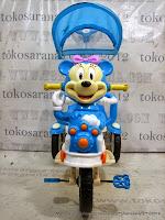 Sepeda Roda Tiga Kids Love 833-2 Mini Safety Bar dengan Penahan Ekstra