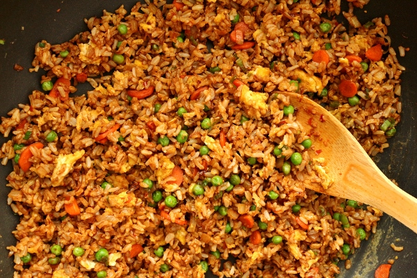 Mission food february 2015 i actually use plain brown jasmine rice from trader joes for my fried rice it makes it a touch healthier and you can barely tell a difference once it is ccuart Choice Image