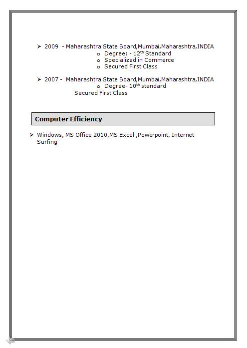 download free resume format word pdf