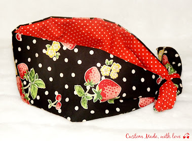 strawberries reversible bandana