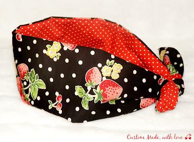 strawberries reversible bandana