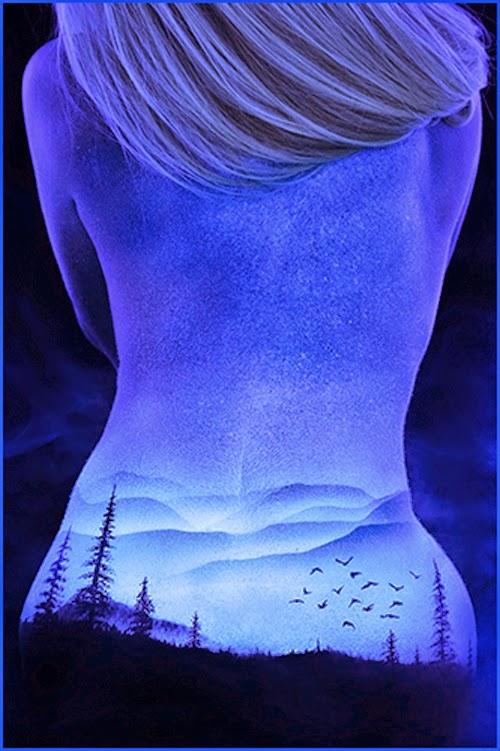 Fluorescent Body Painting by John Poppleton