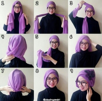 Hijab pesta simple
