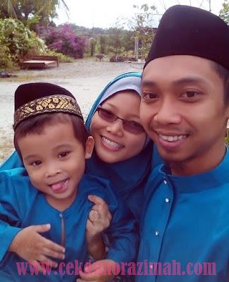 raya 2015, Hijau turquoise, tema raya, songket cotton