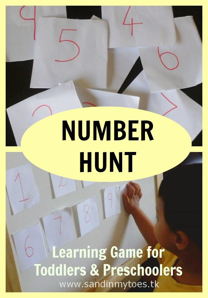 Number Hunt - learning game for toddlers and preschoolers