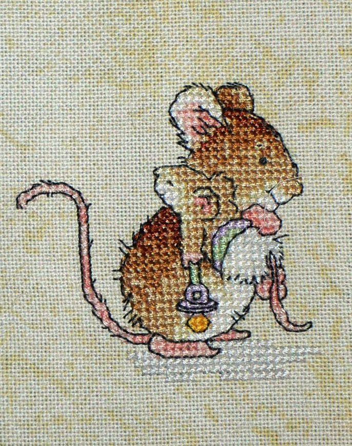 Схемы вышивки с мышками
