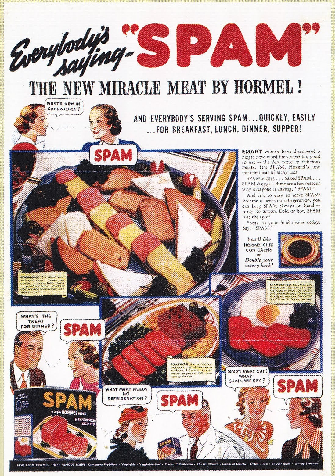 SPAM ADVERTISEMENT 1930S AND 1940S