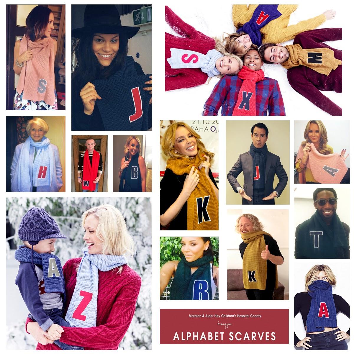 Matalan Alphabet Scarves For Alder Hey Children S Charity Aimee Dot
