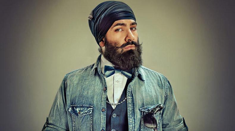 Una mirada más de moda en el Sikh barba y turbante