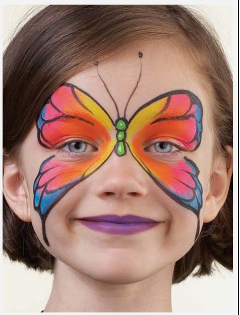 Simple Face Painting Cheek Art