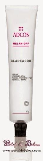 Melan-off Clareador promete clarear e iluminar a pele