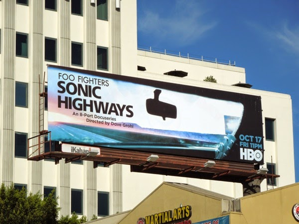 Foo Fighters Sonic Highways HBO docu-series billboard