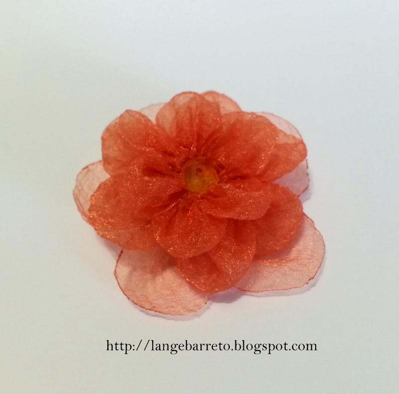Flor de organza