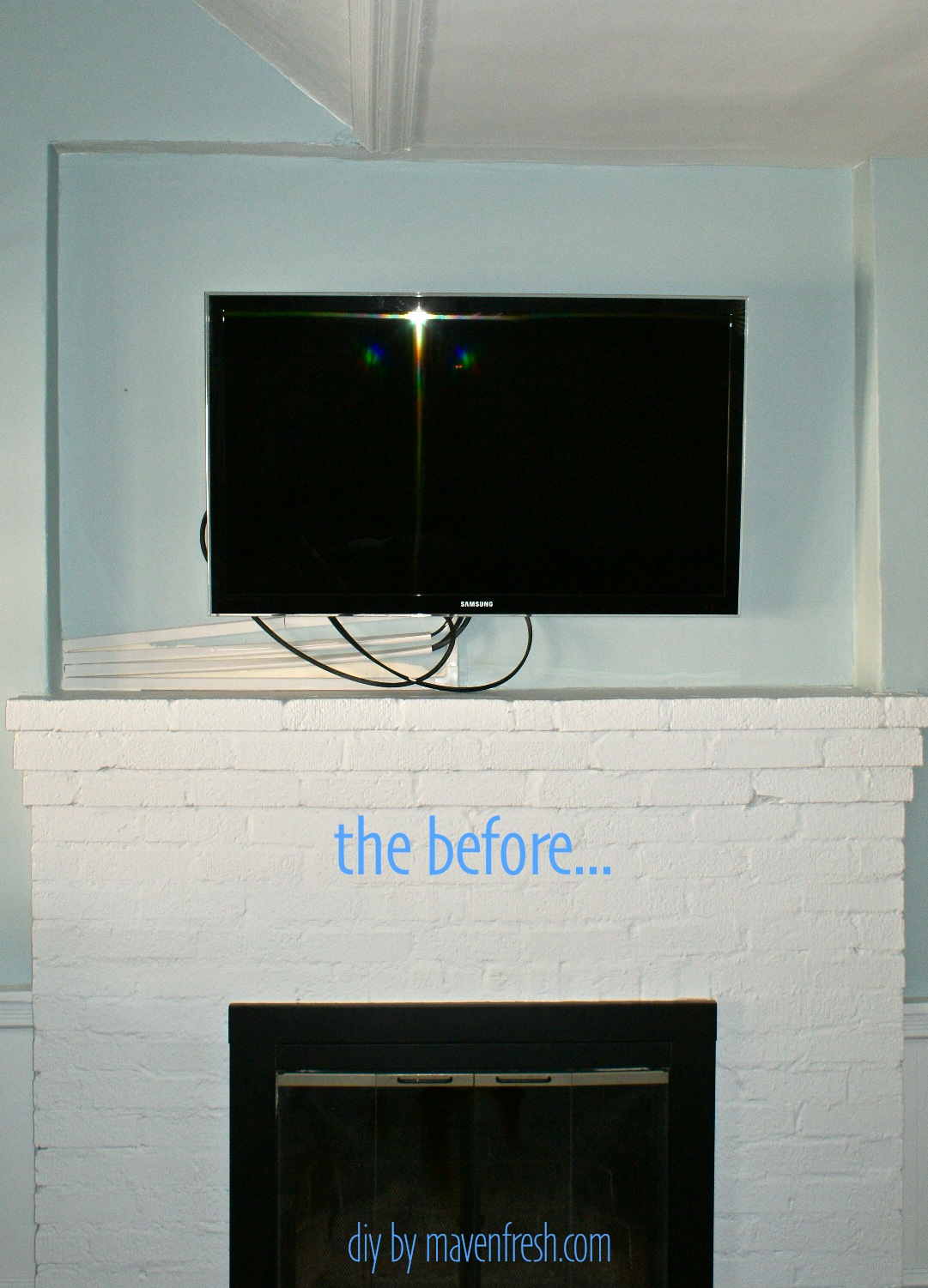 Old Fashioned Tv Over Fireplace Hide Wires Gift - Wiring Diagram ...