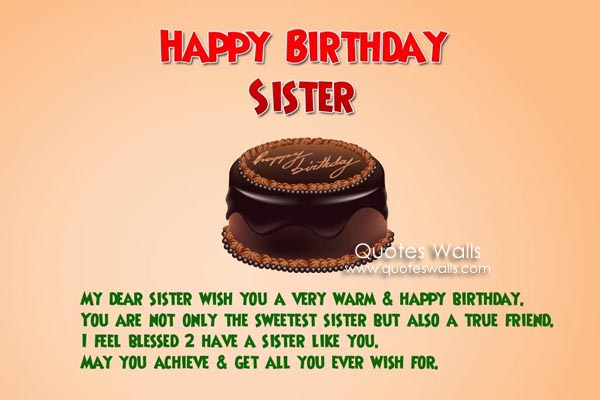... happy birthday to dear sister share birthday greetings on whatsapp
