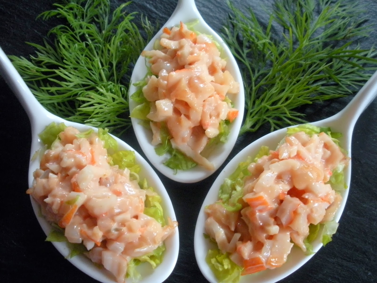 Aqu se cocina cucharitas de aperitivo - Aperitivos de mariscos ...