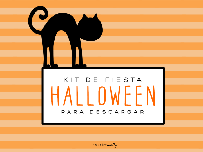 Creative mindly kit de fiesta de halloween ideas para - Ideas para fiesta de halloween ...