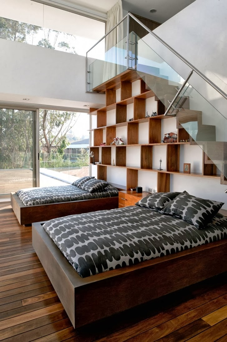 Two bed bedroom in Modern dream home by Paz Arquitectura