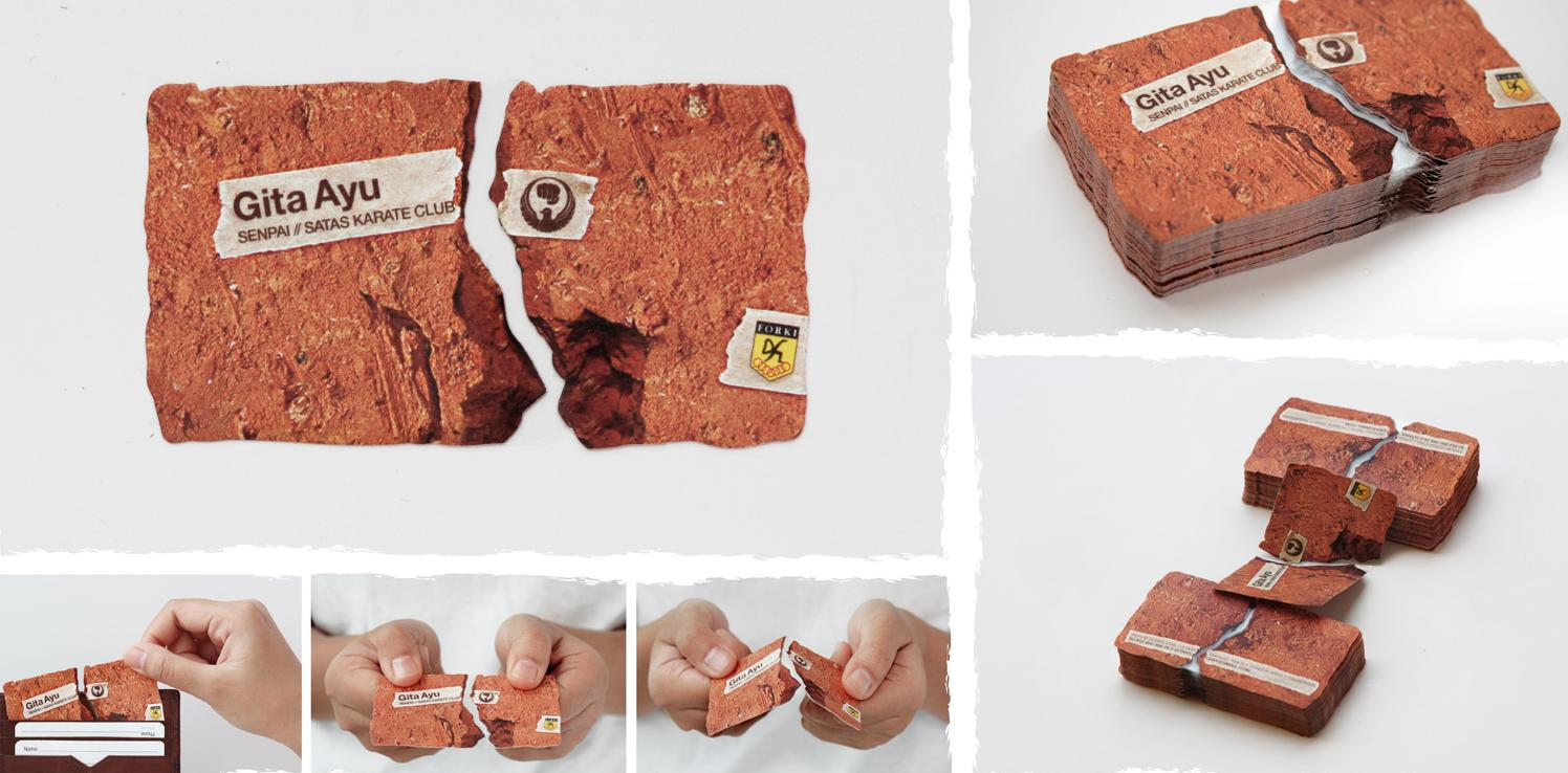 15 clever business cards and creative business card for Creative card design ideas