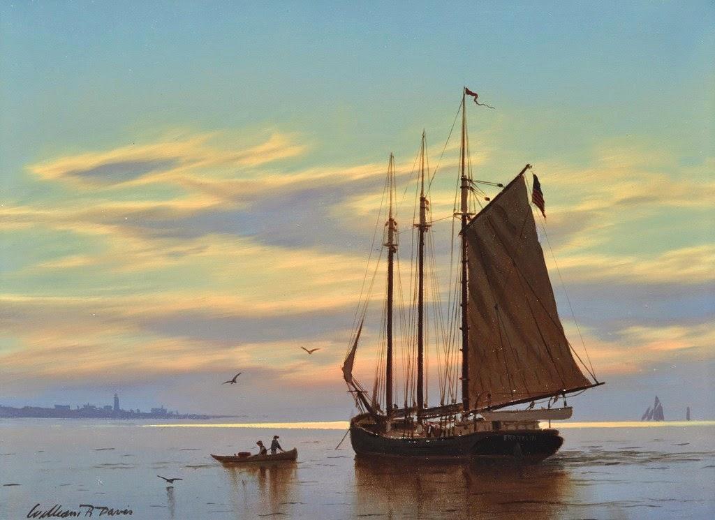 barcos-en-paisajes-pintados-al-oleo